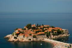 Isla de Sveti Stefan/isla de Stefan del santo Foto de archivo libre de regalías