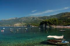 Isla de Sveti Stefan/isla de Stefan del santo Imagen de archivo