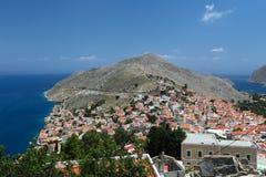 Isla de Symi en Grecia Imagenes de archivo