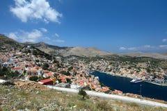 Isla de Symi en Grecia Foto de archivo libre de regalías