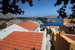 Isla de Symi en Grecia Imagen de archivo libre de regalías