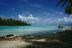 Isla de TAHAA de Polinesia Imagen de archivo