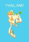 Isla de Tailandia aislada en Azure Background Imagenes de archivo