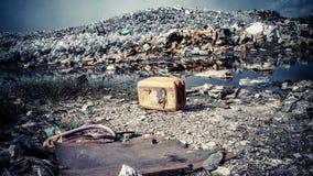 Isla de Thilafushi maldives Descarga de basura, montañas plásticas Foto de archivo