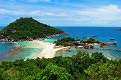 Isla de vacaciones de Kho Nang Yuan Fotos de archivo