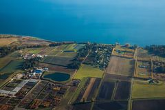 Isla de Vancouver aérea del paisaje Canadá imágenes de archivo libres de regalías