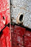 Isla de Vancouver, arqueamiento del barco que aherrumbra Imagen de archivo