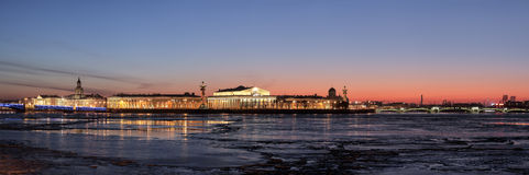 Isla de Vasilevsky de la flecha Imagen de archivo