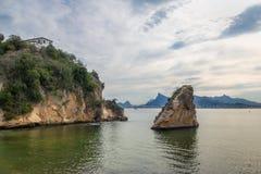 Isla de Viagem de la boa - Niteroi, Rio de Janeiro, el Brasil fotografía de archivo libre de regalías
