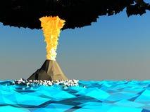 Isla de volcán Foto de archivo