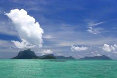 Isla de volcán extinta Foto de archivo libre de regalías