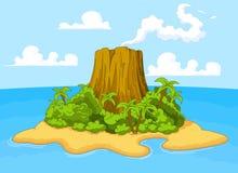 Isla de volcán Imagen de archivo libre de regalías