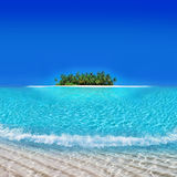 Isla de Yacata - centro turístico de día de fiesta del atolón Imágenes de archivo libres de regalías