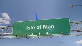 Isla del aterrizaje de aeroplano del hombre metrajes