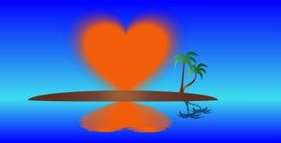 Isla del corazón ascendente Fotos de archivo