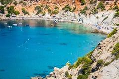 Isla del Es Vedra de Ibiza Cala d Hort en Balearic Island imagen de archivo