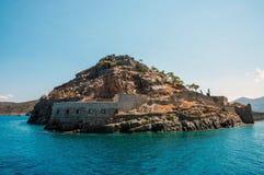 Isla del fantasma de Spinalonga fotos de archivo libres de regalías