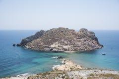 Isla del Fraile sur la côte méditerranéenne espagnole photos libres de droits