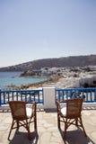 Isla del Griego de la habitación de hotel de la visión imagen de archivo