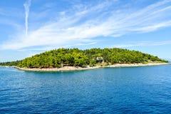 Isla del Griego de Vido Fotos de archivo libres de regalías