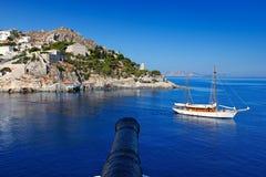 Isla del Hydra, Grecia Imagenes de archivo