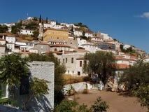 Isla del Hydra, Grecia - vista de la ciudad fotografía de archivo libre de regalías