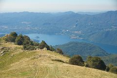 Isla del lago Orta - de San Julio - Piamonte - Italia Imágenes de archivo libres de regalías
