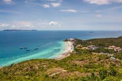 Isla del Lan de Ko en Pattaya Foto de archivo libre de regalías