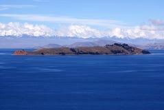 Isla del luna, Bolivië Stock Foto's