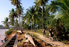 Isla del Mekong, Don Det Imágenes de archivo libres de regalías
