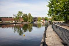 Isla del molino y río de Brda en Bydgoszcz Foto de archivo