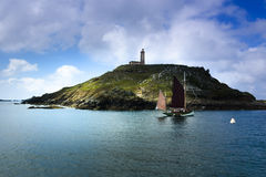 Isla del monje del archipiélago de siete islas Imagen de archivo libre de regalías