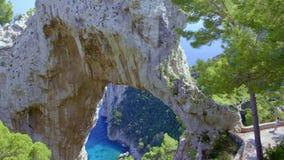 Isla del naturale de Arco de Capri metrajes