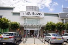 Isla del río Foto de archivo