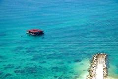 Isla del salto de Lingshui de la isla del límite Imagen de archivo libre de regalías