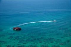 Isla del salto de Lingshui de la isla del límite Imagenes de archivo