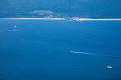 Isla del salto de Lingshui de la isla del límite Foto de archivo