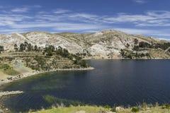 Isla del Sol Île du Sun bolivia Lac Titicaca Sud A Image libre de droits