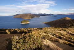 Isla del sol, Bolivië Stock Afbeelding
