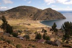 Isla del sol, Bolivië Stock Fotografie