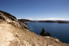 Isla del sol, Bolivië Stock Foto's