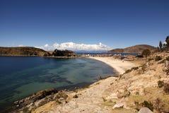 Isla del sol, Bolivië Stock Foto