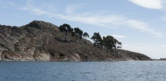 Isla del Sol, Bolivia, panorama from the top of the island royalty free stock photography