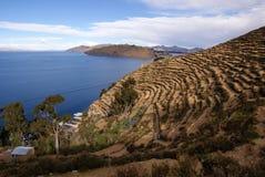 Isla del sol, Bolivie images stock