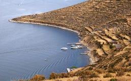 Isla del sol, Bolivie photos libres de droits