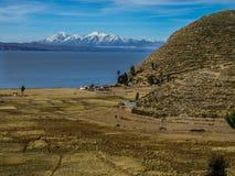 Isla del sol e lago Titicaca Fotografia Stock