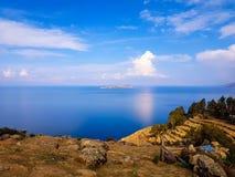 Isla del sol e lago Titicaca & x28; bolivia& x29; immagine stock
