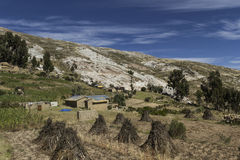 Isla del Sol Eiland van de Zon bolivië Het meer van Titicaca Zuiden A Stock Fotografie