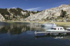 Isla del Sol Eiland van de Zon bolivië Het meer van Titicaca Zuiden A Royalty-vrije Stock Afbeeldingen