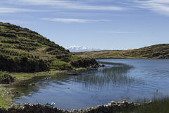 Isla del Sol Eiland van de Zon bolivië Het meer van Titicaca Zuiden A Stock Afbeeldingen